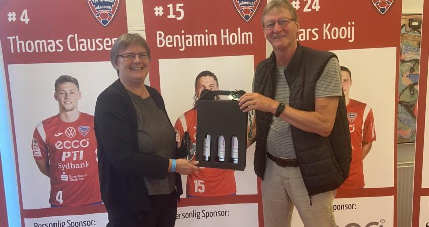 Esben og Anette vandt vin