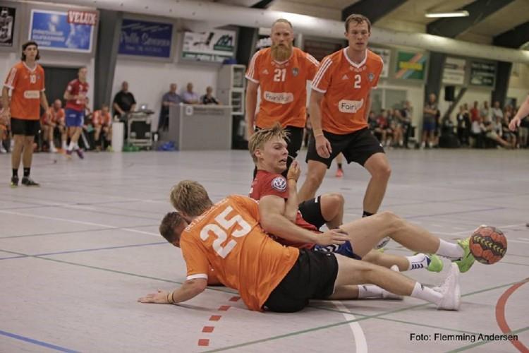 Billeder fra træningskamp i Skærbæk