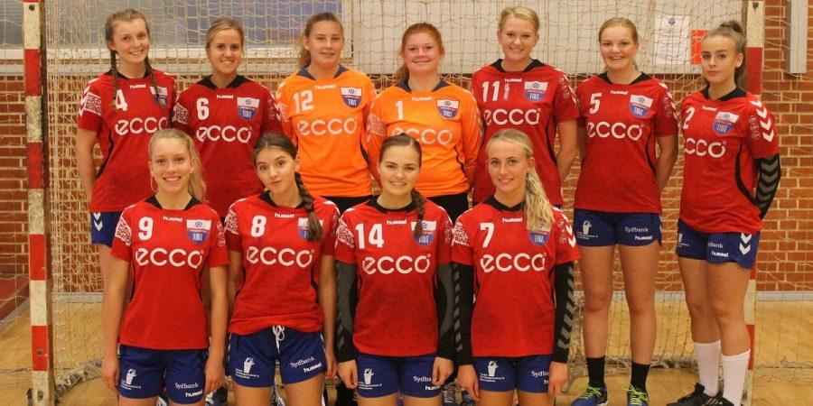 TM Tønder U16 piger i afgørende kval kamp.