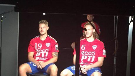 Tre TMT spillere var til foto-shooting ved TV2
