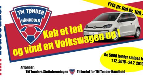 Køb et lod og vind en Volkswagen UP.