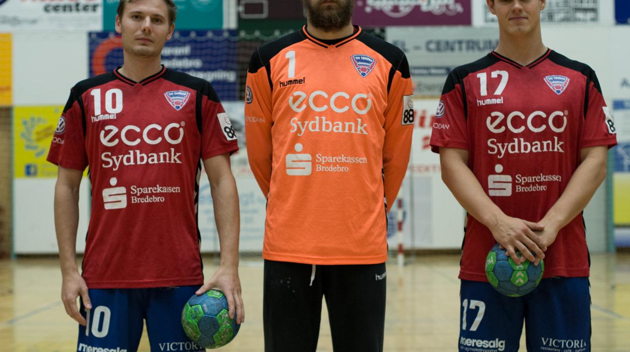 Emil Tellerup Mathias Jørgensen Kristan Stoklund TM Tønder håndbold